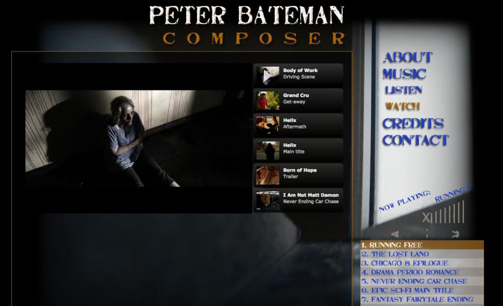 Peter Bateman, Composer: Web Design – Rebecca Potts Aguirre